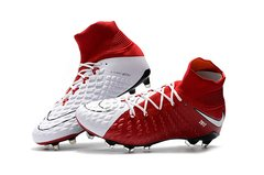 NIke Hypervenom Phantom III DF FG white/red + free bag