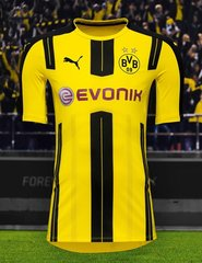 Borussia Dortmund 2016-17 Home Kit +FREE SHIPPING
