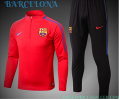 Barcelona Jersey training suit 17-18 set Red Sleeves