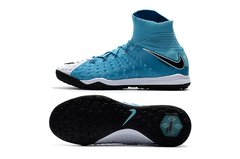 NIke Hypervenom Phantom III DF FG LIGHTBLUE/WHITE INDOOR SHOES +FREE BAG