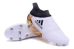adidas X 16+ Purechaos FG/AG white/gold +free bag+ fast shipping