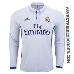 REAL MADRID JERSEY SEASON 2016-2017 LONG SLEEVE