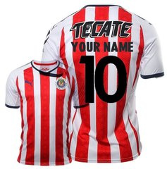 Chivas Guadalajara Home Men Jersey 2017-2018 CUSTOM