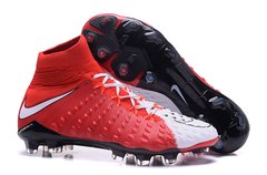 NIke Hypervenom Phantom III DF FG RED/ WHITE +FREE BAG