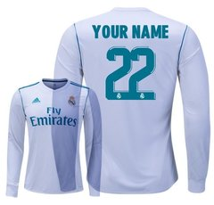 REAL MADRID CUSTOM MEN JERSEY Long Sleeve 17/18