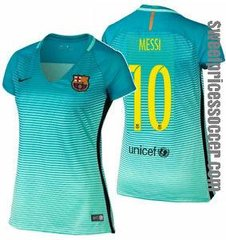 woman BARCELONA JERSEY green SEASON 2016-2017 + fast shipping