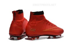 KIDS SHOES Nike Mercurial Superfly CR7 RED +BAG