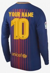 Barcelona Men Jersey Long Sleeve season 17/18 CUSTOM JERSEY