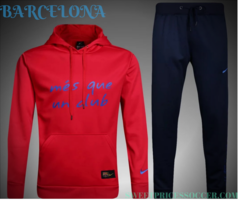 Barcelona red Hooded Training suit