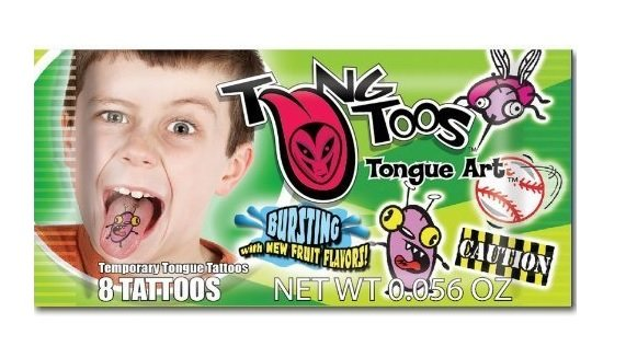TungToos Candy Tongue Tattoos