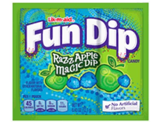 Wonka Fun Dip Lik-M-Aid Razz Apple - 4ct