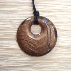Chewable Pendant Necklace - Bronze Swirl