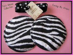 Cloth Breastpads - Posh Pads Zebra Stripe