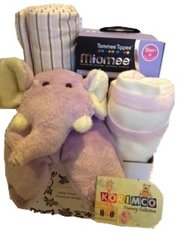 Gift hamper for a baby girl - Purple Elephant