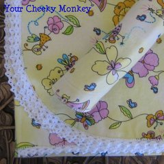 Heirloom Bunny Rug & Burp Cloth - Fairies