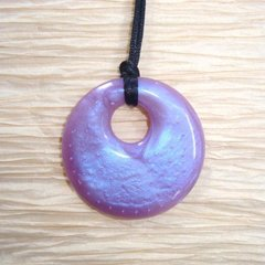 Chewable Pendant Necklace - Purple Swirl