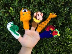 Hand Knitted Finger Puppets - Assorted Pack of 10