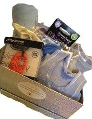 Baby Boy Gift Basket - Silver