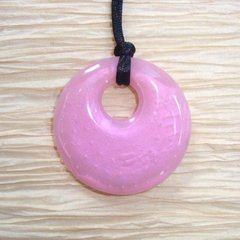 Chewable Pendant Necklace - Pink Swirl