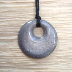 Chewable Pendant Necklace - Silver Swirl