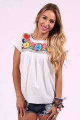 Buddy Love Izzy & Lola Rose Embroidered Top