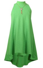 Bonnie Jean Green Mock Neck High Low Dress