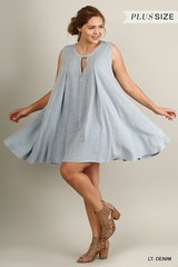 Lt Denim A-Line Dress