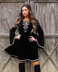 L & B Black Velvet Dress