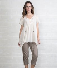Simply Noelle Lace Inset Boho Top