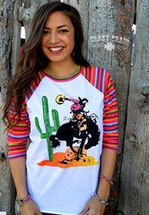 Crazy Train Young Gun Serape Sleeve Raglan