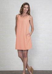 Simply Noelle Grommet Neckline Shift Dress