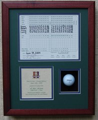 Hole In One Shadowbox with Scorecard