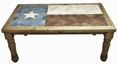 6FT Texas Flag Marble Dining Set