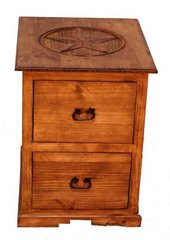 2 Drawer File Cabinet w/ Star