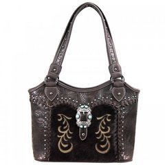 Leather Purse with Cowhide