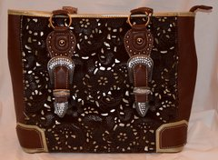 Cowhide Tooled Purse