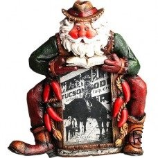 Sitting Santa Picture Frame