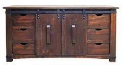 "70"" Barn Door Buffet / TV"