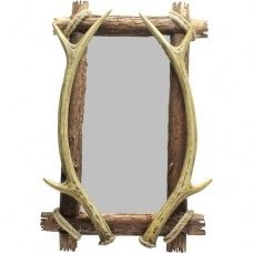 Square Antler Mirror