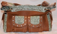 Brown with Tooled Green Mont