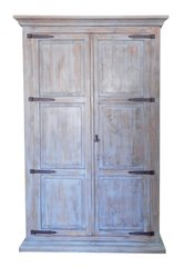 Old Grey Armoire w/ Hideaway Bed