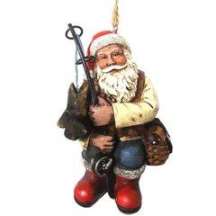 Fishing Santa Ornament