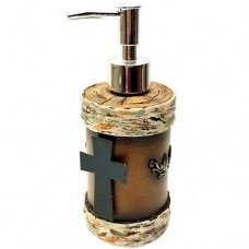 Birch with Metal Cross Soap/Lotion Pump