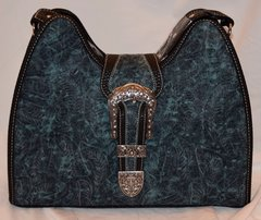 Turquoise Tooled Concealed Carry Purse