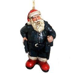 Police Santa Ornament
