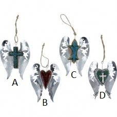 Metal Wing Ornament