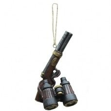 Gun and Telescope Ornament