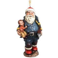 Fireman Santa Ornament