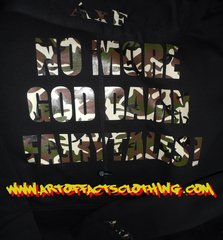 NO MORE GOD DAMN FAIRYTALES! Camo Print Sweater