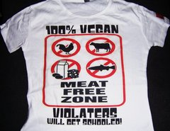100% Vegan Violators Will Get Schooled! - Vegan Hood Designs